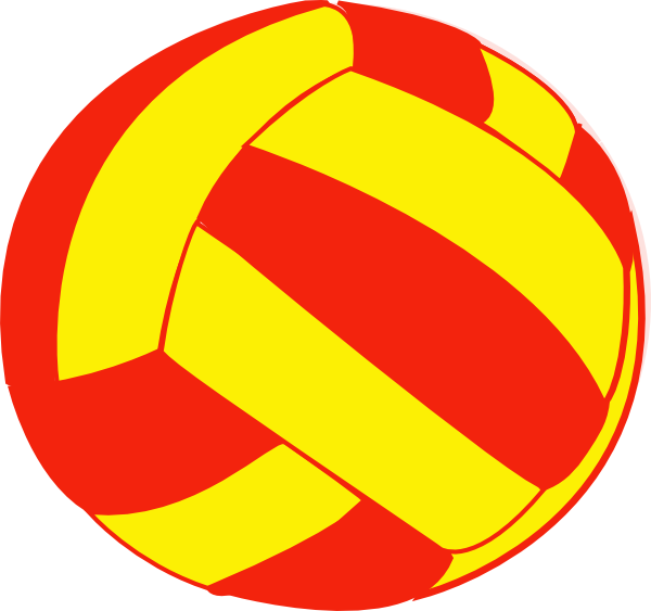 Red And Yellow Volleyball Clip Art at Clker.com.