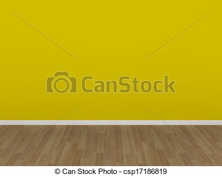 Clipart of yellow wall and wood floor.