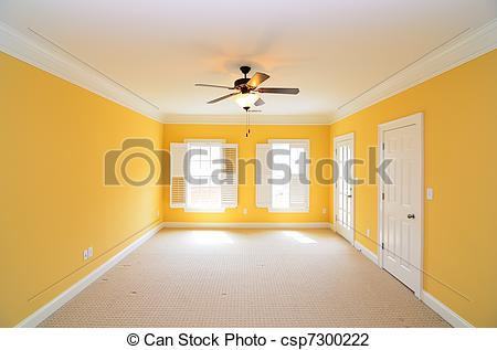 Stock Photo of Unfurnished Room.