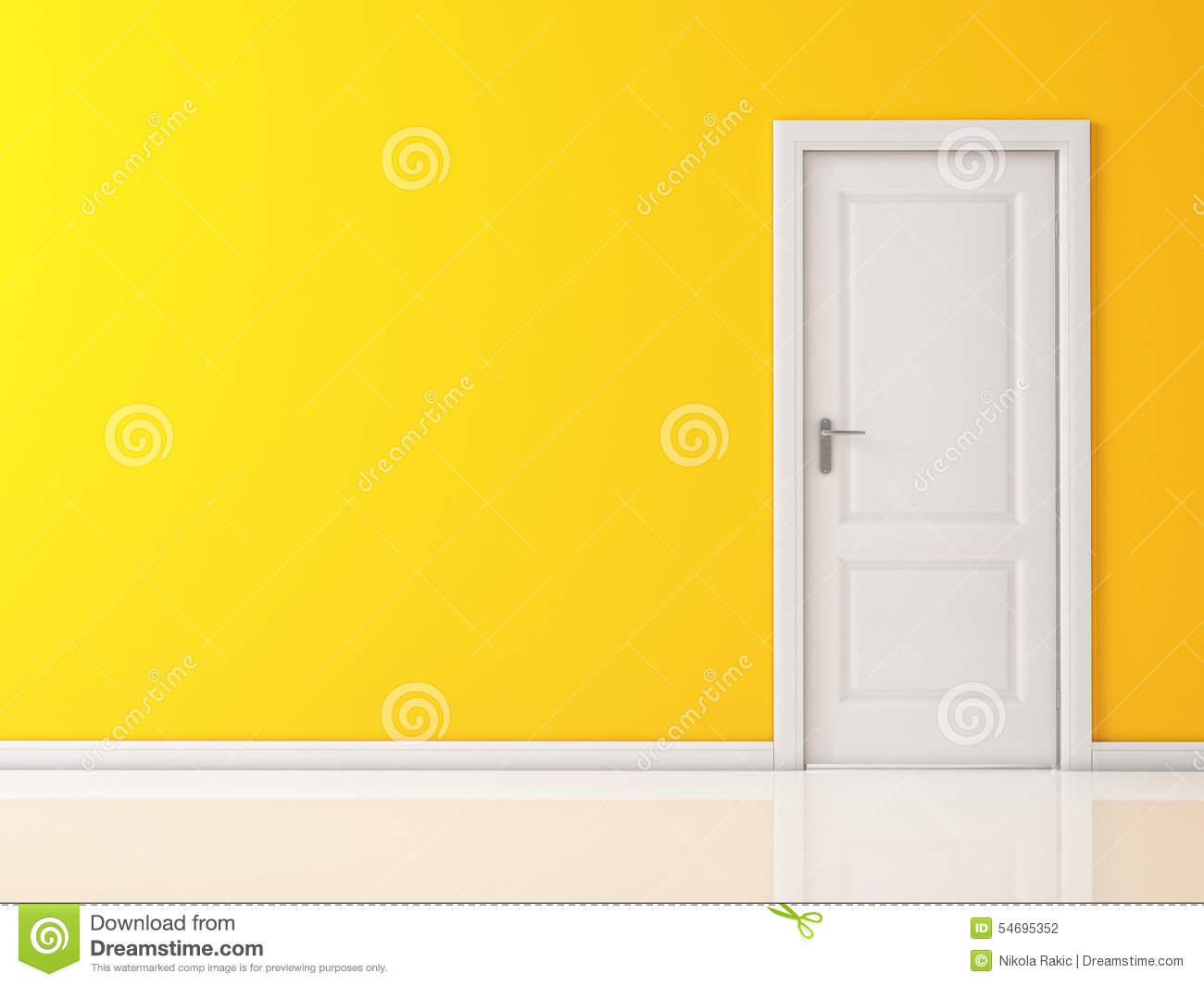 Yellow Wall And Door Royalty Free Stock Images.