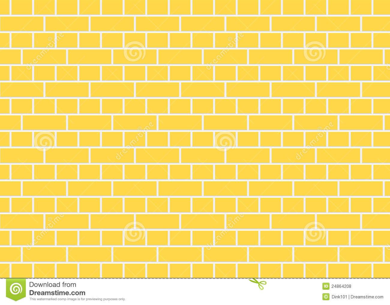Yellow Brick Wall Royalty Free Stock Photos.