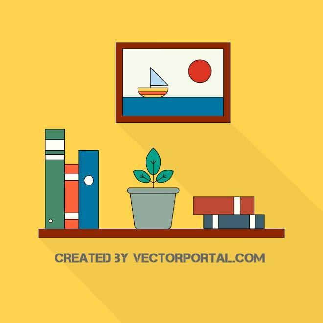 YELLOW WALL VECTOR CLIP ART.