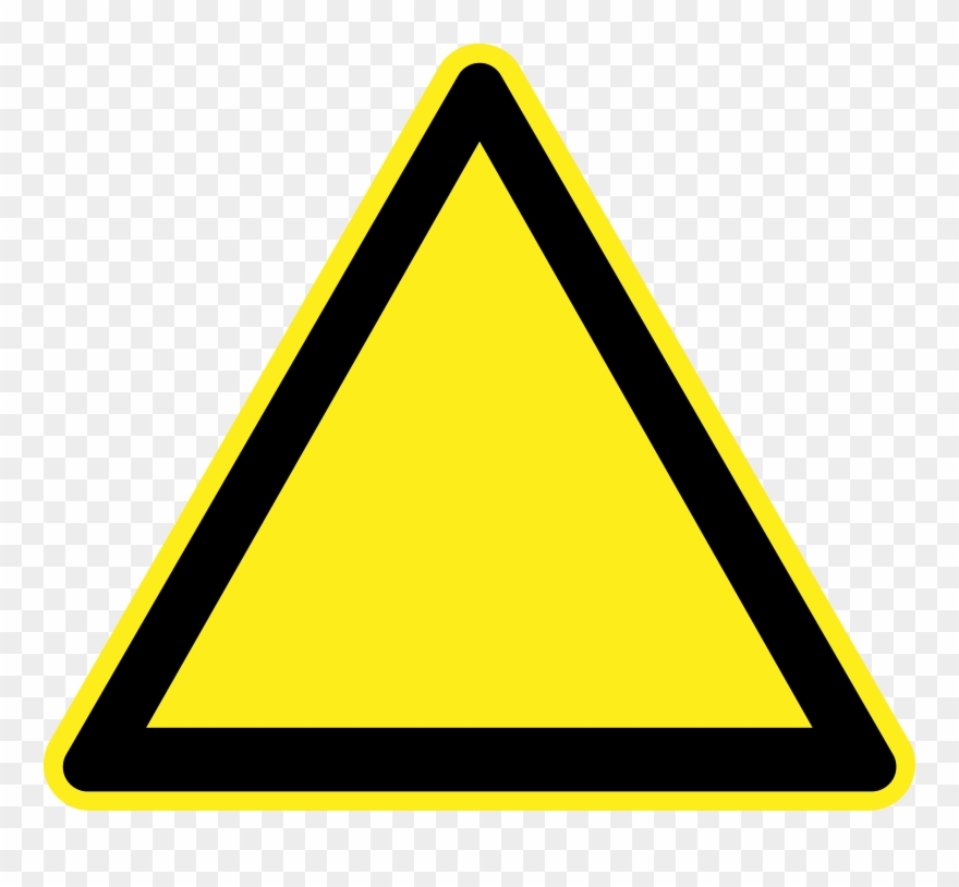 Clipart Blank Warning Sign.