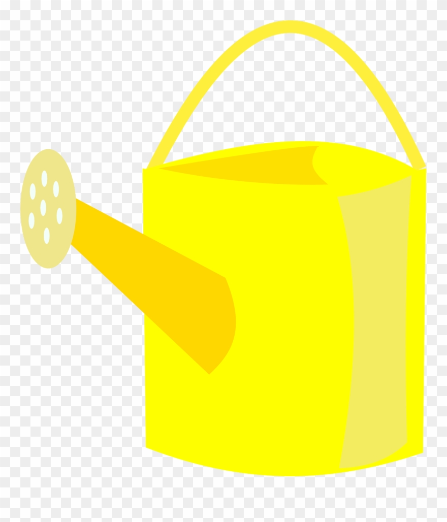 Watering Can Yellow Ewer Png Image.
