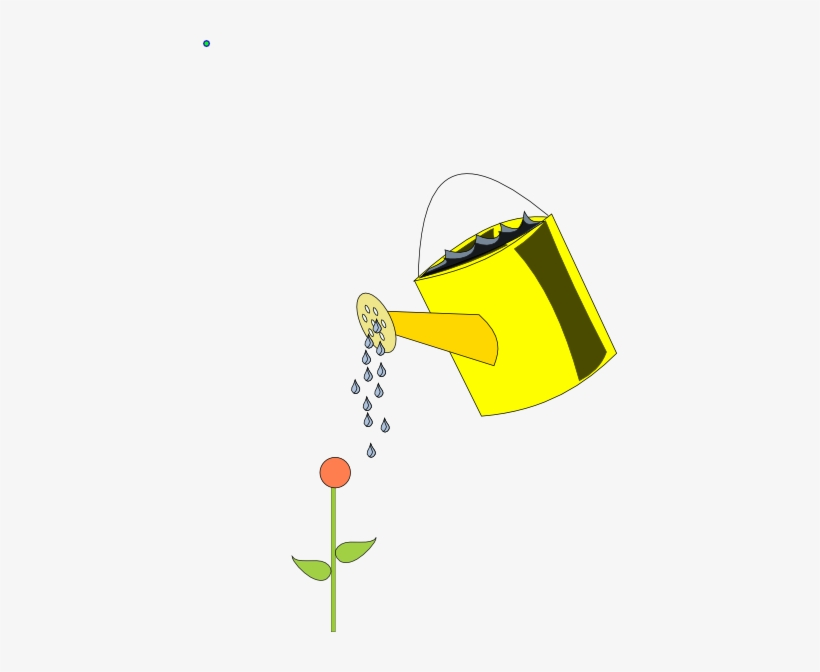 How To Set Use Yellow Watering Can Outlined Clipart.