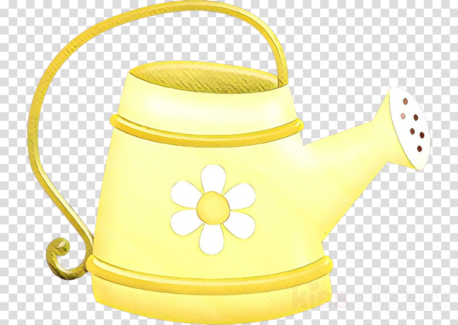yellow watering can kettle clip art drinkware clipart.