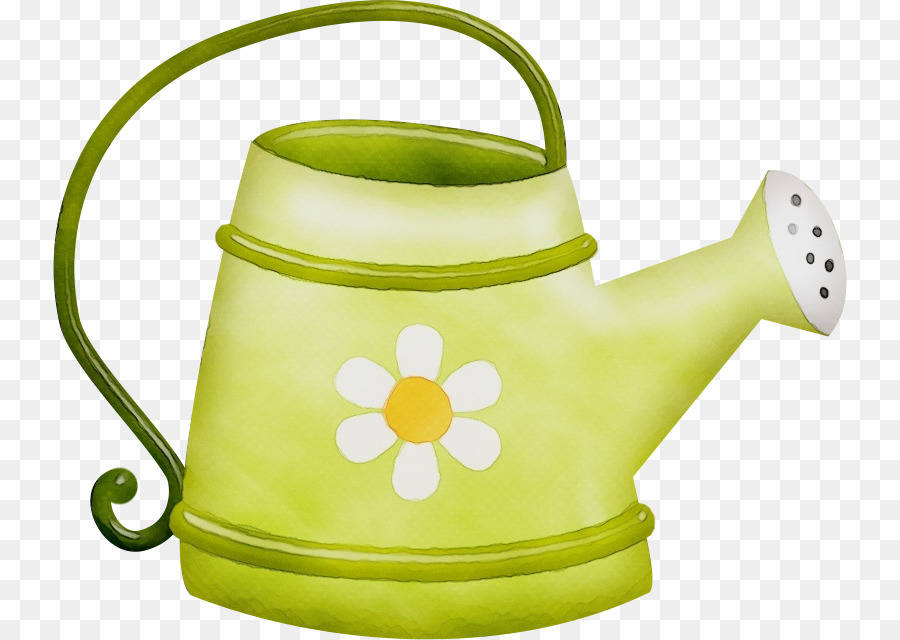 green watering can kettle yellow clip art.