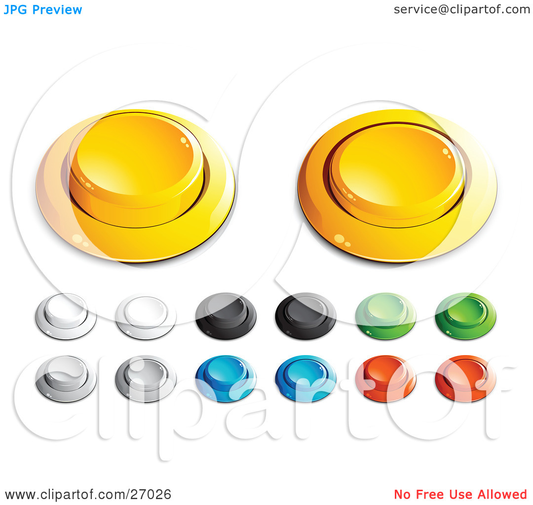 Clipart Illustration of Yellow, White, Black, Green, Blue And Red.