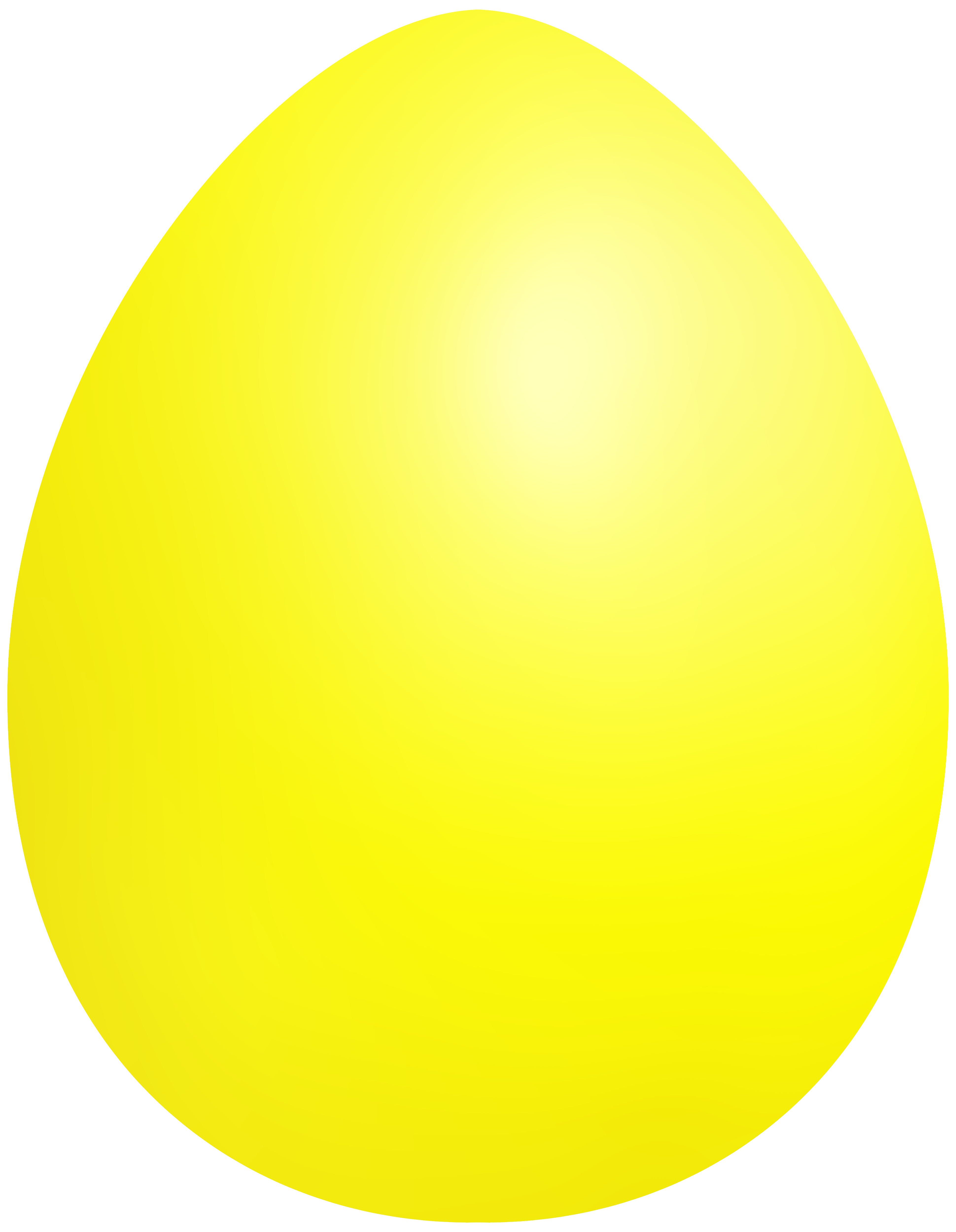 Yellow Easter Egg PNG Clip Art.