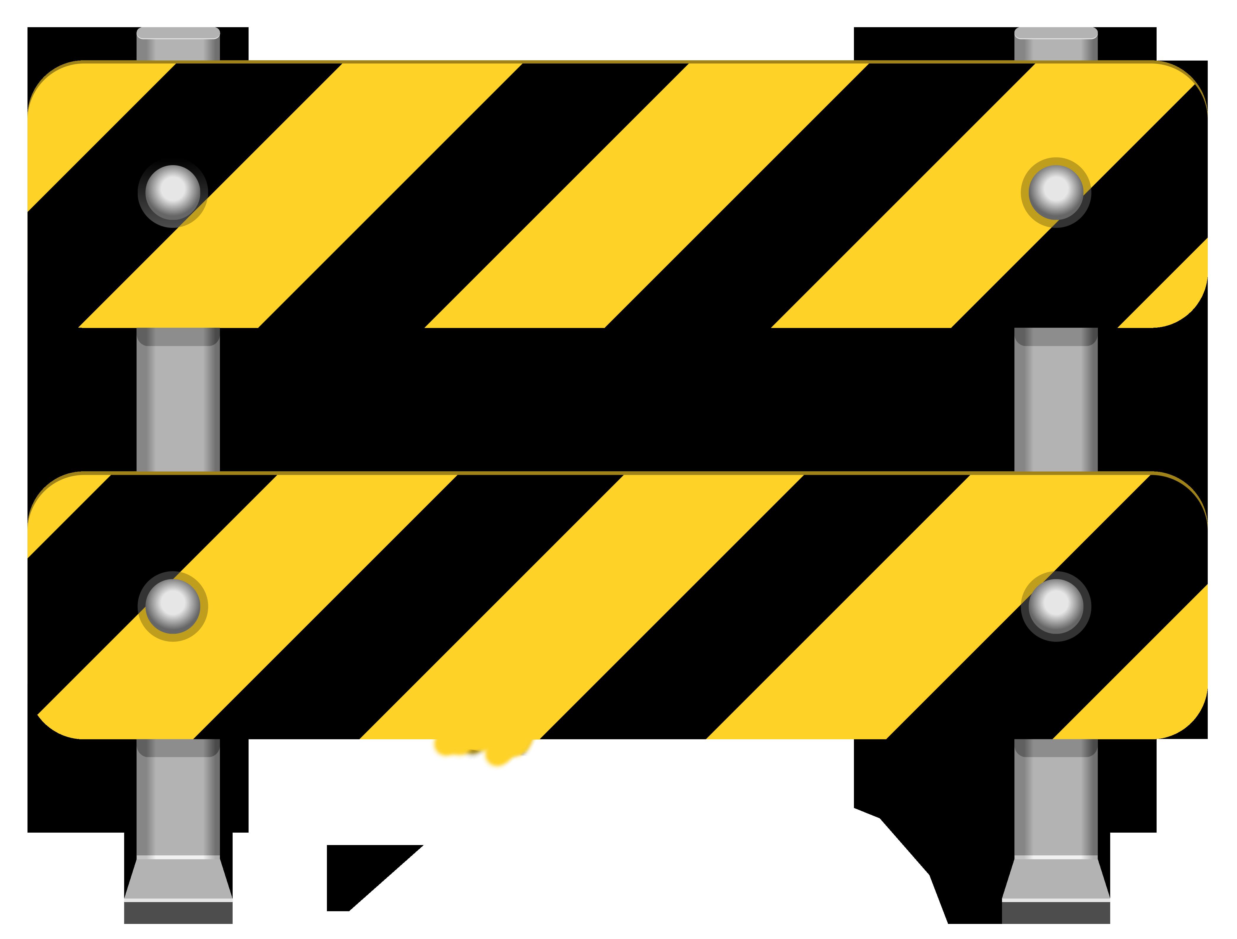 Yellow Road Barricade PNG Clip Art.