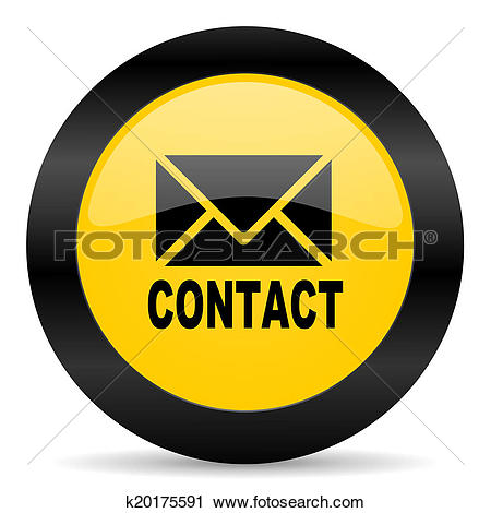 Clipart of email black yellow web icon k20175591.
