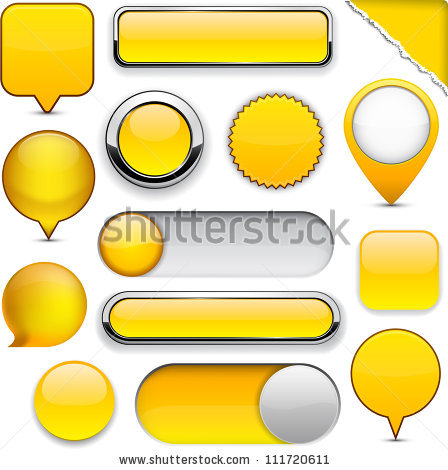 Yellow Button Stock Photos, Royalty.