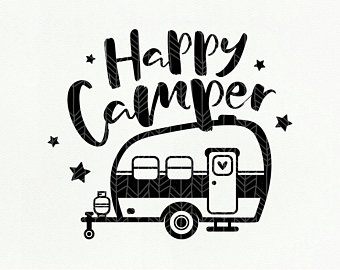 Happy camper clipart black and white 4 » Clipart Station.
