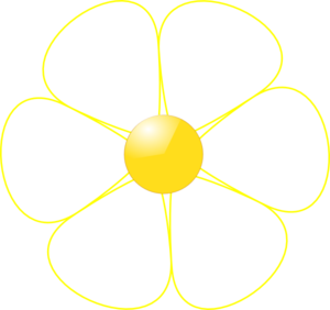 Yellow White Flower Clipart.