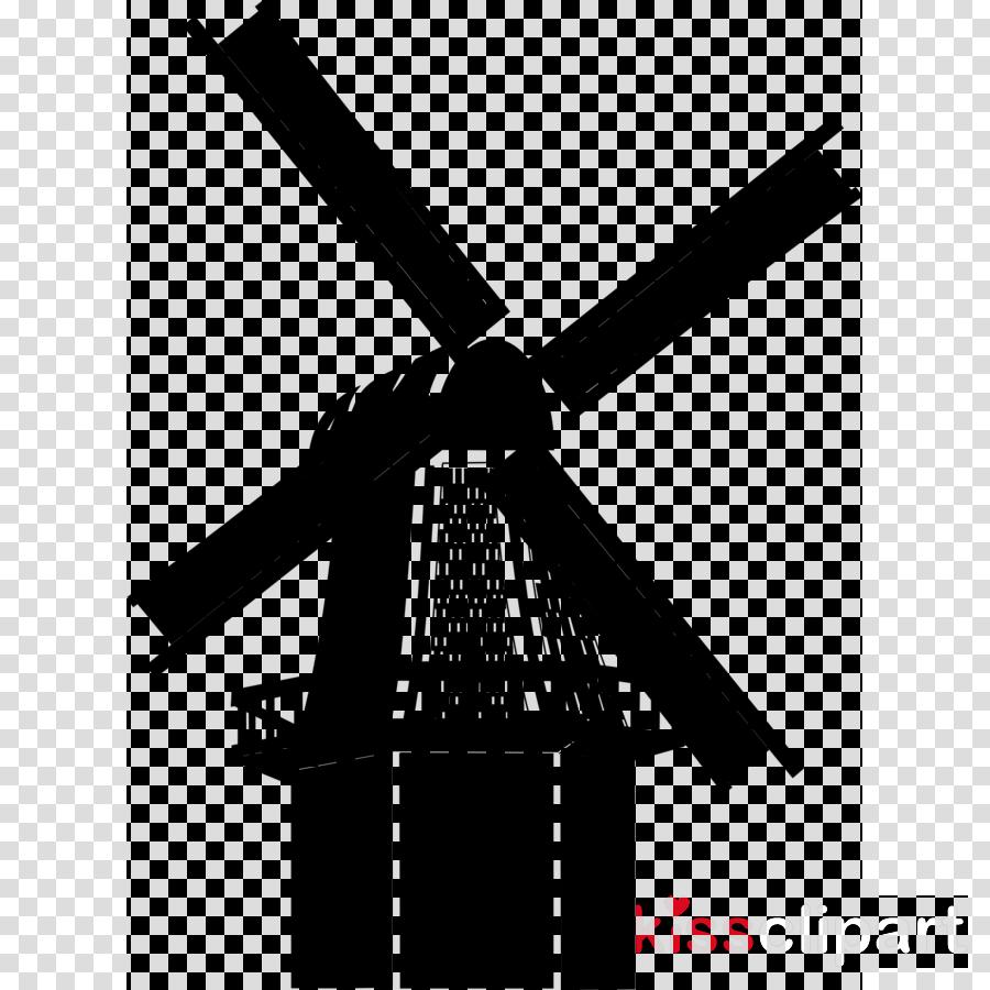 netherland windmill black vector clipart Machine Windmill.