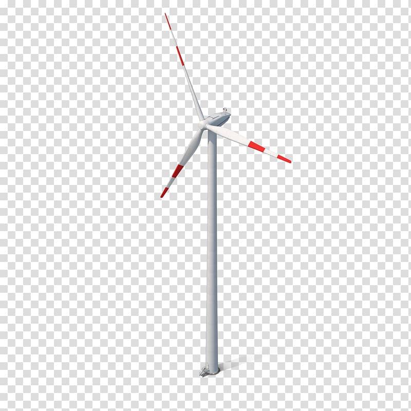 White wind turbine, Wind farm Wind turbine Energy Machine.