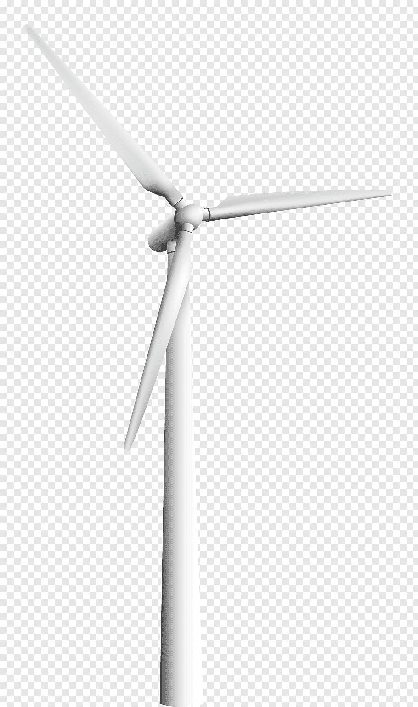 White wind turbine, Wind turbine Black and white Energy.