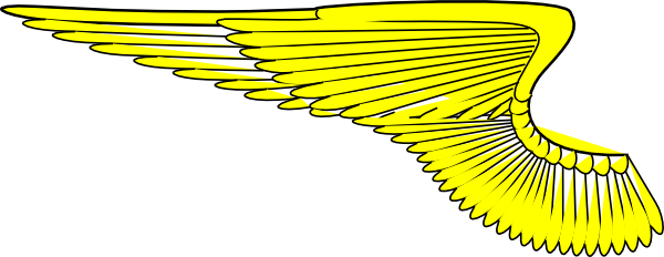 Yellow Wings Clip Art at Clker.com.