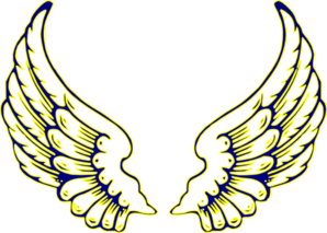 Blue And Yellow Wings Clip Art at Clker.com.