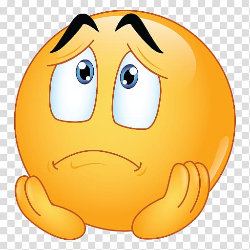 Yellow worried emoji, EmojiWorld Sadness Emoticon Google.
