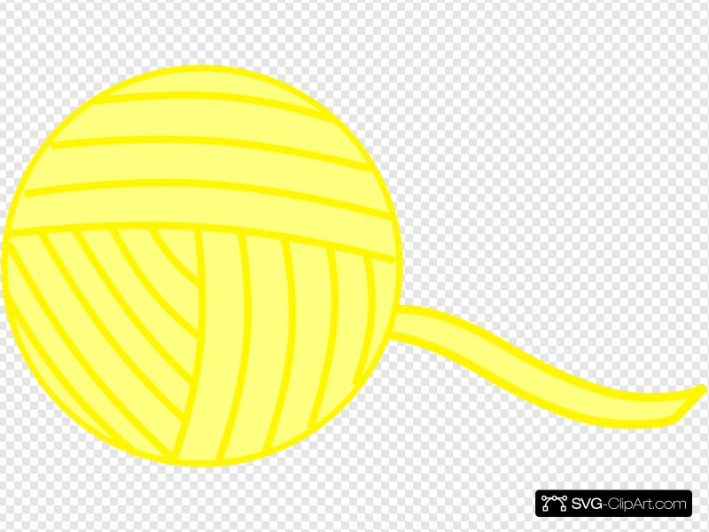 Yellow Yarn Clip art, Icon and SVG.