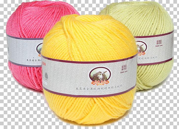Wool Yellow Yarn Red, Ball of yarn PNG clipart.