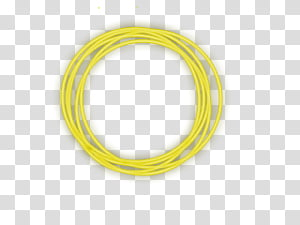Circulo amarillo, yellow yarn transparent background PNG.