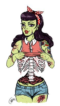 Zombie Pinup Girls.