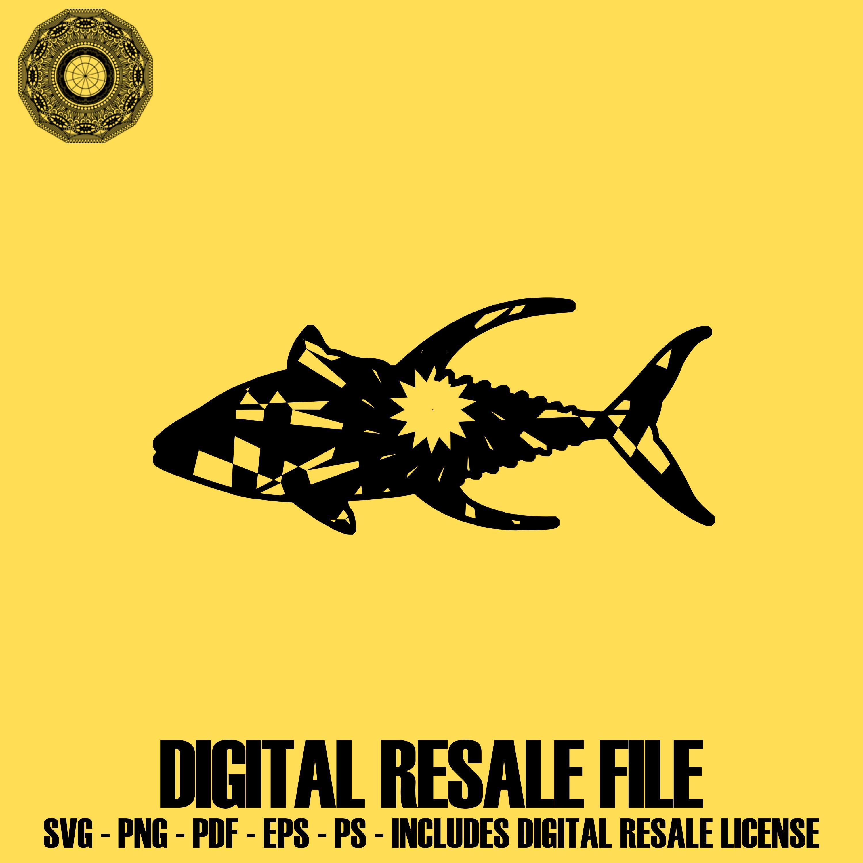 Yellowfin Tuna Cheap Svg Files Mandala Files Mandala PDF.