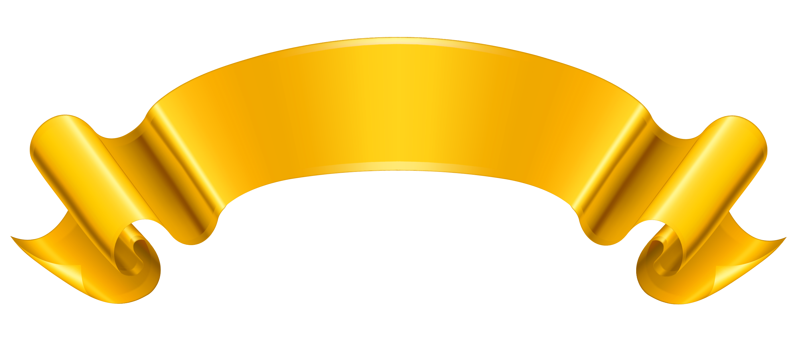 Prize Ribbon Yellow Clipart.