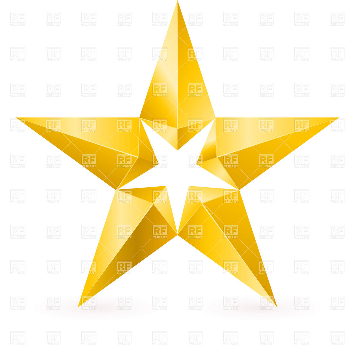 Gold shooting star clipart.