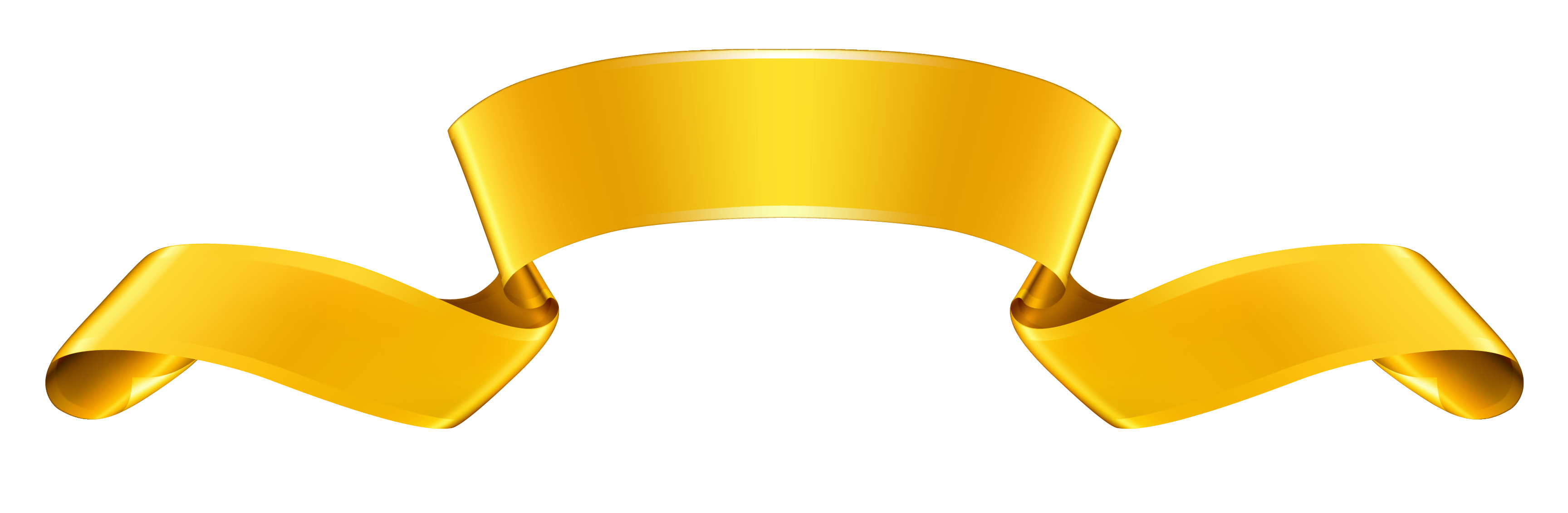 Gold Banner PNG Clipart.