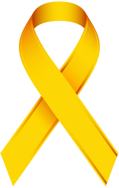Gold Cancer Ribbon Clipart.