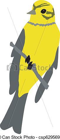 Vector Illustration of yellow hammer csp6295692.