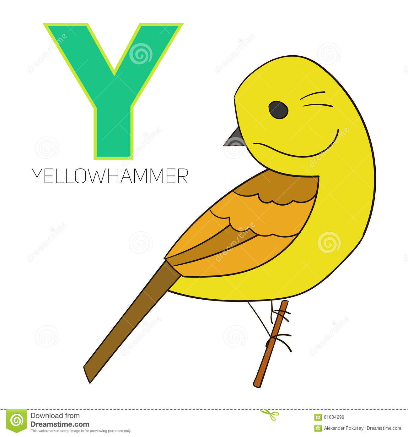 Yellowhammer clipart #16