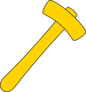 Hammer Yellow Clip Art at Clker.com.