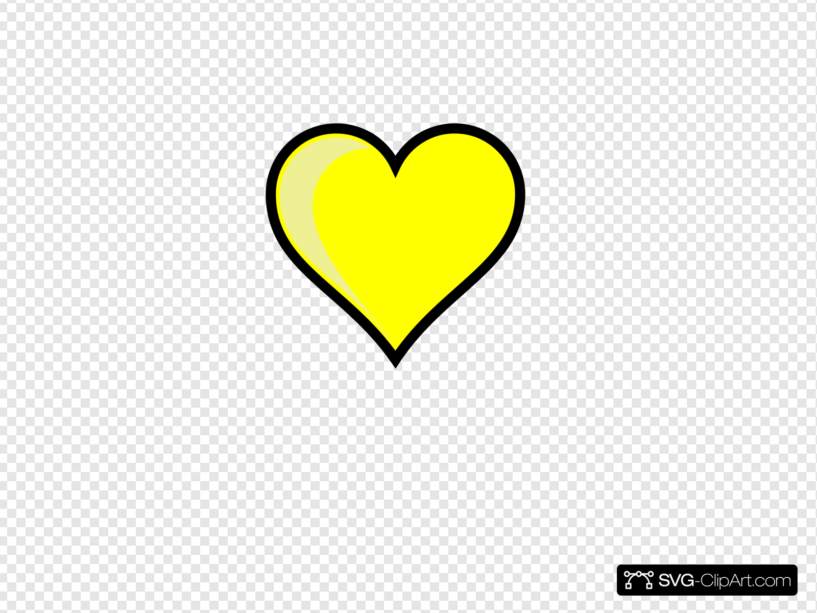 Yellow Heart Clip art, Icon and SVG.