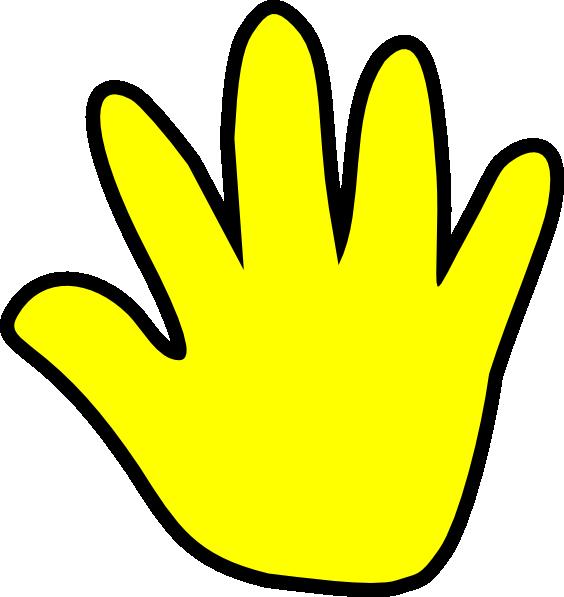 Yellow Handprint Clipart.