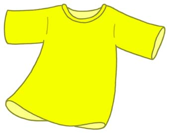 Yellow Shirt Clipart.