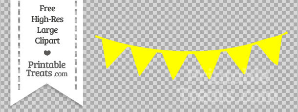 Yellow Triangle Banner Clipart.