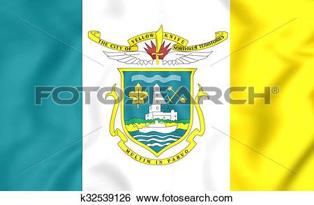 Stock Illustration of Flag of Yellowknife, Canada. k32539126.
