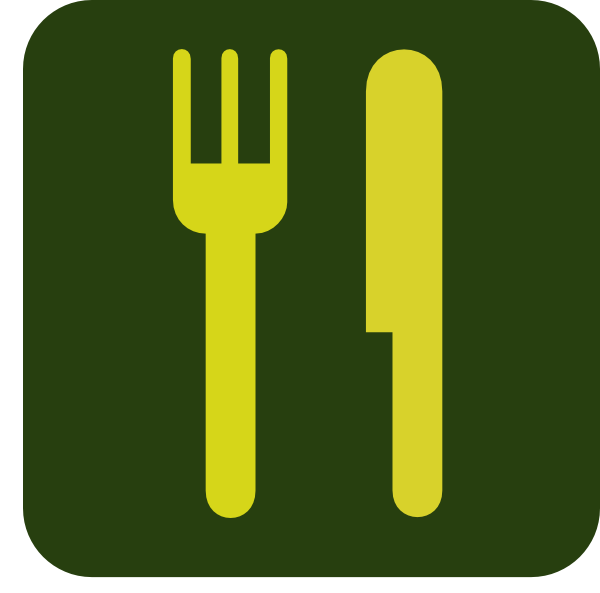 Green And Yellow Knife And Fork Clip Art at Clker.com.