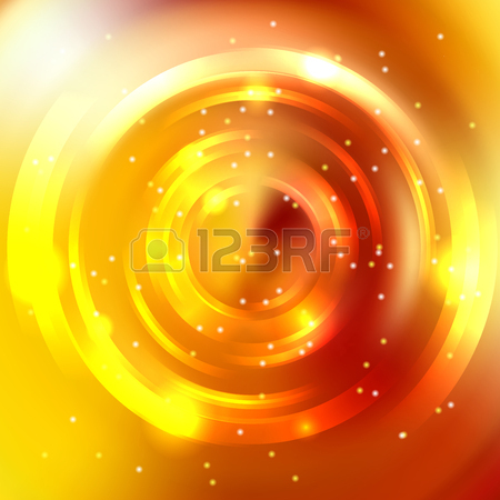 Vector Round Frame. Shining Circle Banner. Glowing Spiral. Vector.