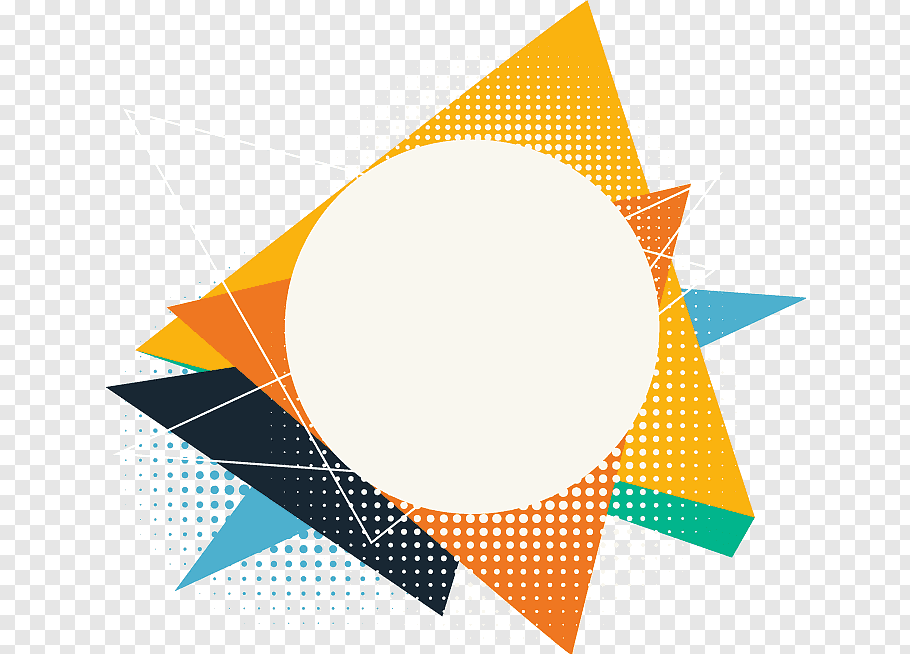 Yellow, orange, and black artwork, Geometric shape Polygon.