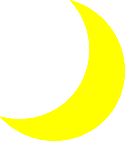 Yellow moon png.