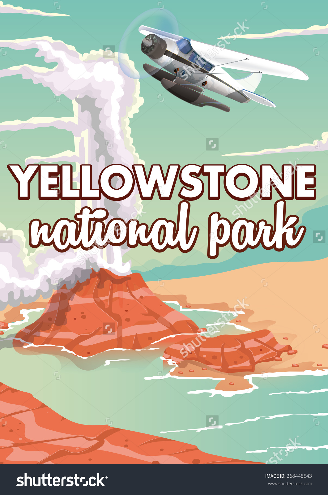Yellowstone National Park Camping Clip Art.