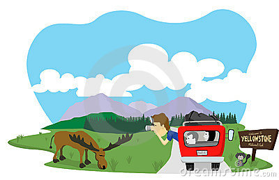 Yellowstone National Park Stock Illustrations.