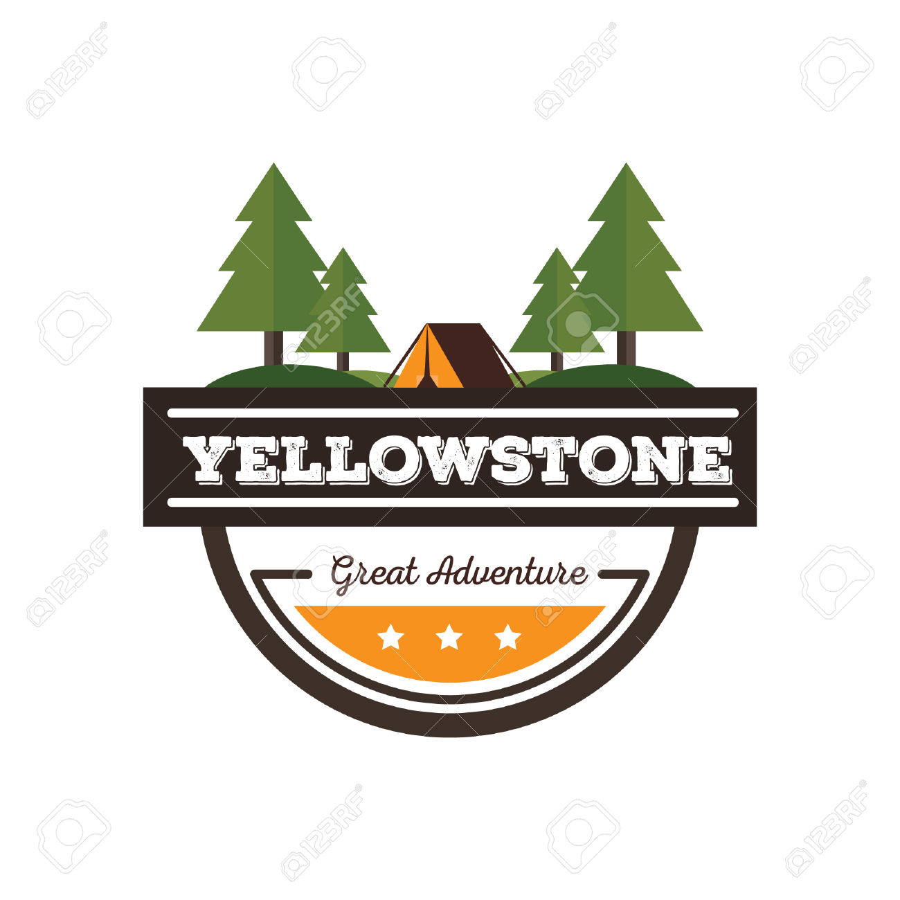 Yellowstone Label Royalty Free Cliparts, Vectors, And Stock.