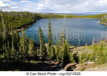 Stock Photo of Yellowstone Lake in Yellowstone National Park.
