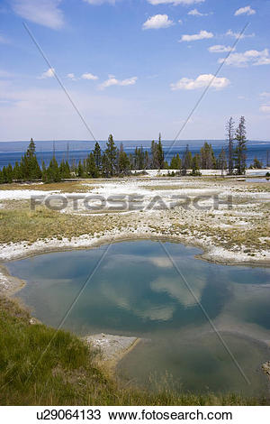 Stock Photo of USA, Wyoming, West Thumb Geyser Basin, Yellowstone.